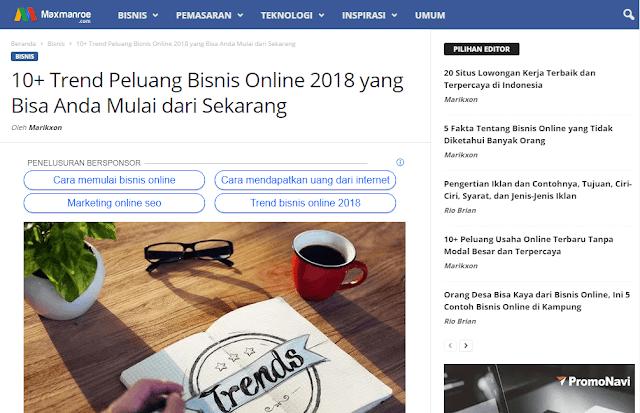 Trend Peluang Bisnis Online 2018