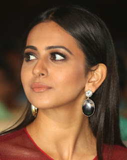 Telugu Actress Rakul Preet Singh Oily Face close Up Pictures (7)