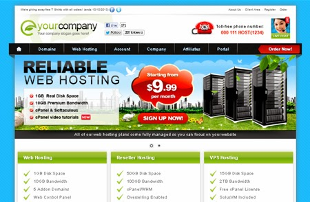 Eco Net WHMCS Template « Web Hosting Templates