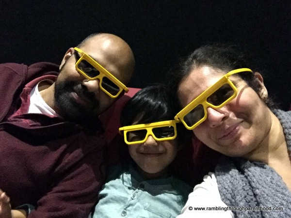 We took time out to watch a 4D cinema