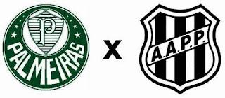 Palmeiras x Ponte Preta Jogo Ao Vivo às 21h30 na Globo.