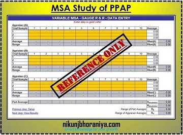 Measurement System Analysis (MSA) in PPAP