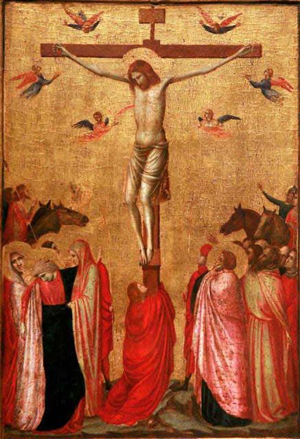 La crucifixion de Jésus et Marie-Madeleine.