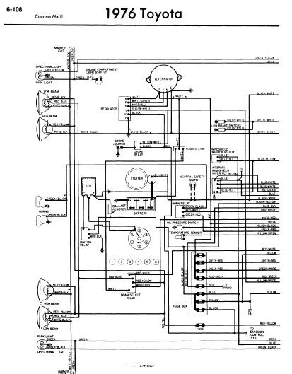 repair-manuals: Toyota Corona Mark II 1976 Wiring Diagrams