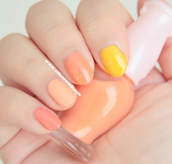 orange ombre nails