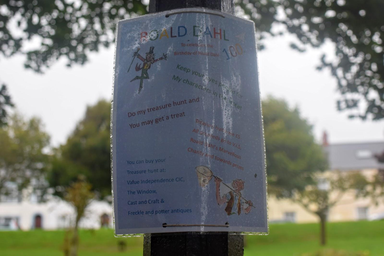 , Roald Dahl Treasure Hunt, Milford Haven and other Roald Dahl Activities #RoaldDahl100 #Wales