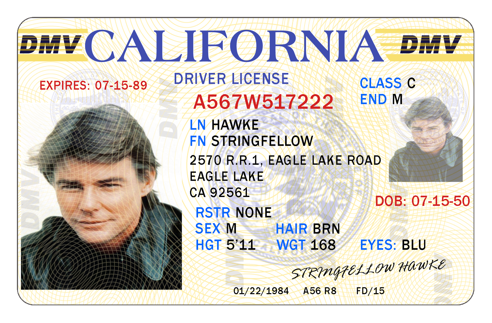 License amp; Upc California Serial The Hawke Merchandise Driving Database Airwolf Stringfellow