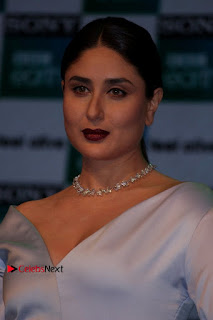 Bollywood Actress Kareena Kapoor Stills in Beautiful Silk Long Dress at Sony BBC Earth New Channel Launch  0003.jpg