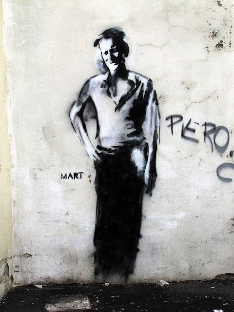 Piero Ciampi, mural by Mart, off via Pelletier, Livorno