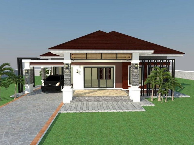 Looking for great inspiration for your future home? Get one that actually suits the Philippine setting. Here are five bungalow houses that can help you come up with a home that's right for your family. These houses consist of 3 bedrooms, 3 bathrooms, a living area and a kitchen, and more than 90 square meters of living space.