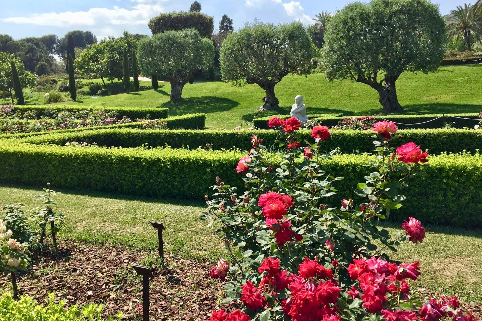 Ogród różany w Barcelonie