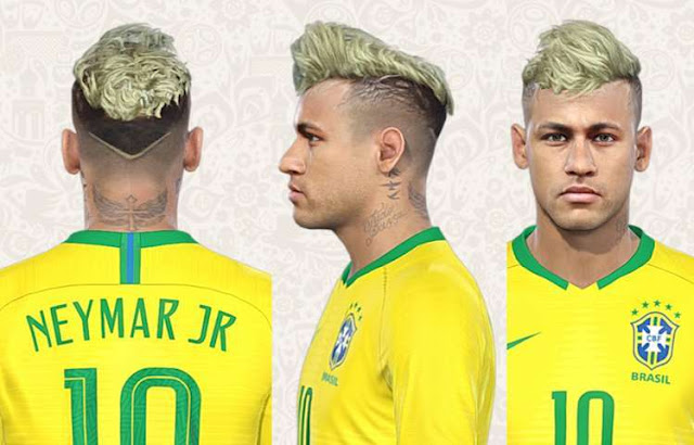 Neymar World Cup 2018 New Hair Pes 2018 Patch Pes New Patch