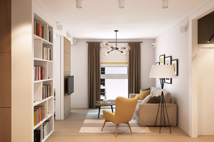 wystrój wnętrz, wnętrza, urządzanie mieszkania, dom, home decor, dekoracje, aranżacje, styl skandynawski, scandinavian style, ciepłe kolory, salon, pokój dzienny, living room