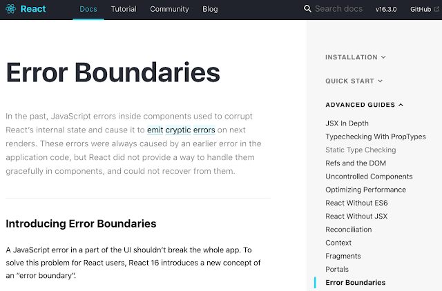 React Error Boundaries