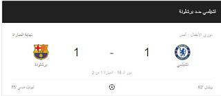 شوية رياضة || ميسى يثأر لنفسه ولفريقه امام تشيلسى العنيد , تخرج المباراة تعادل ايجابى 1-1