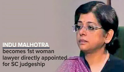 Indu Malhotra cleared for SC judge