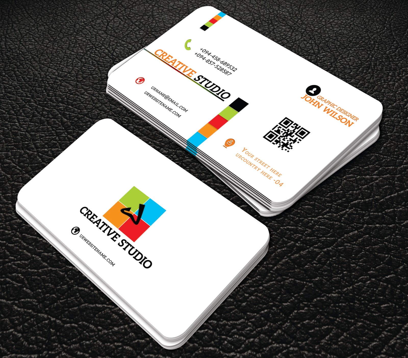 Professional white colour business cards professional business professional white colour business cards wajeb Gallery
