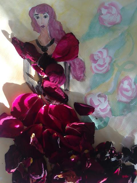 ruže rose pedals #fashionillustration  #modaodaradosti
