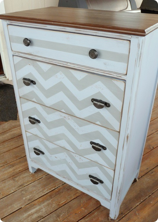 Dishfunctional Designs Upcycled Dressers Painted Wallpapered Decoupaged