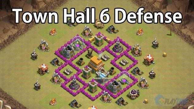 clash of clans defense strategy town hall 6 for war