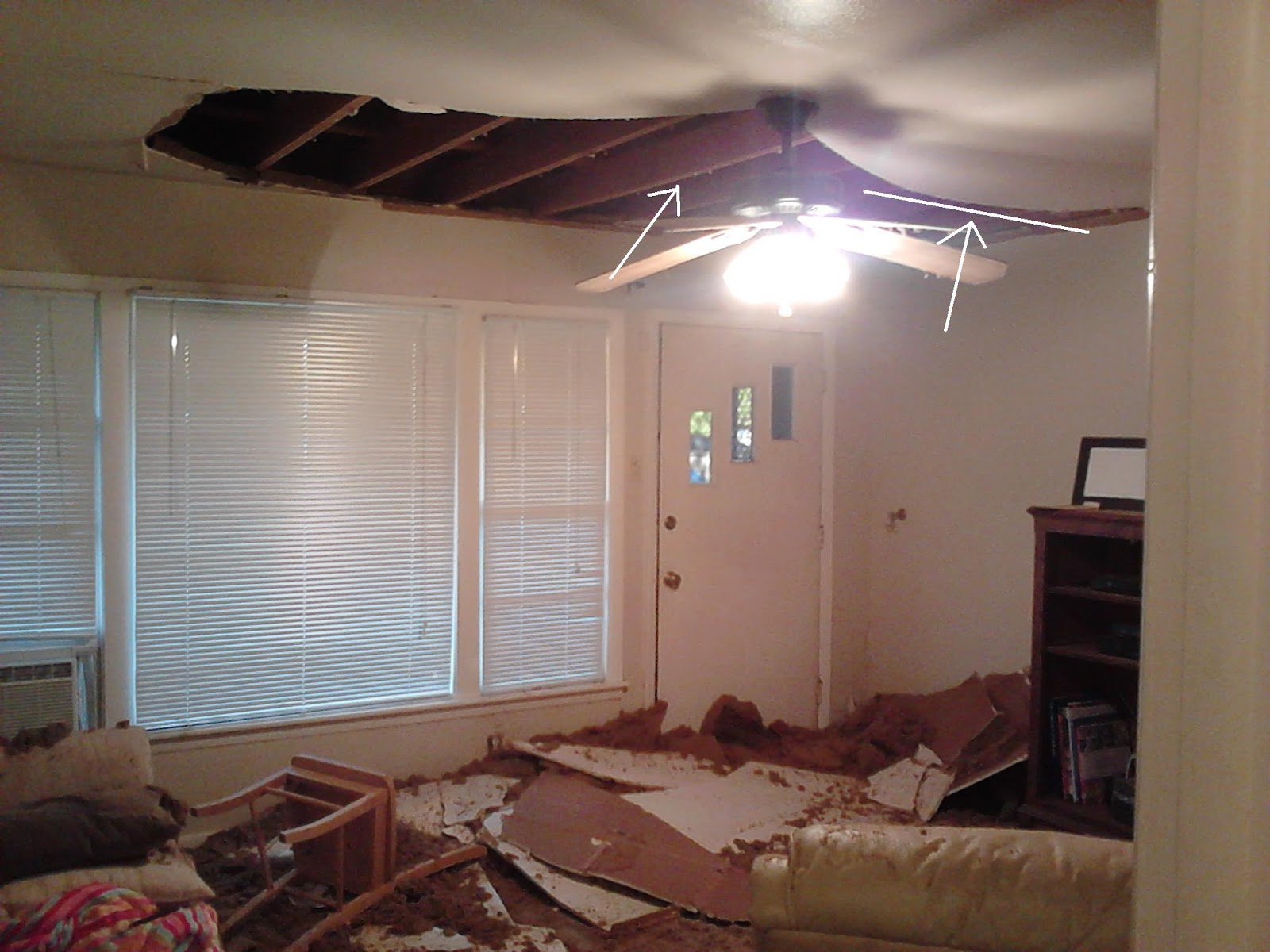 Renov8z Collapsed Ceiling Think You Had A Bad Day
