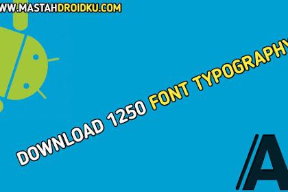 Download 1250 Font Typography Terbaru