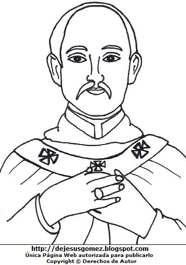 Imagen de Santo Toribio de Mogrovejo para colorear, pintar e imprimir. Dibujo de Santo Toribio de Mogrovejo hecho por Jesus Gómez