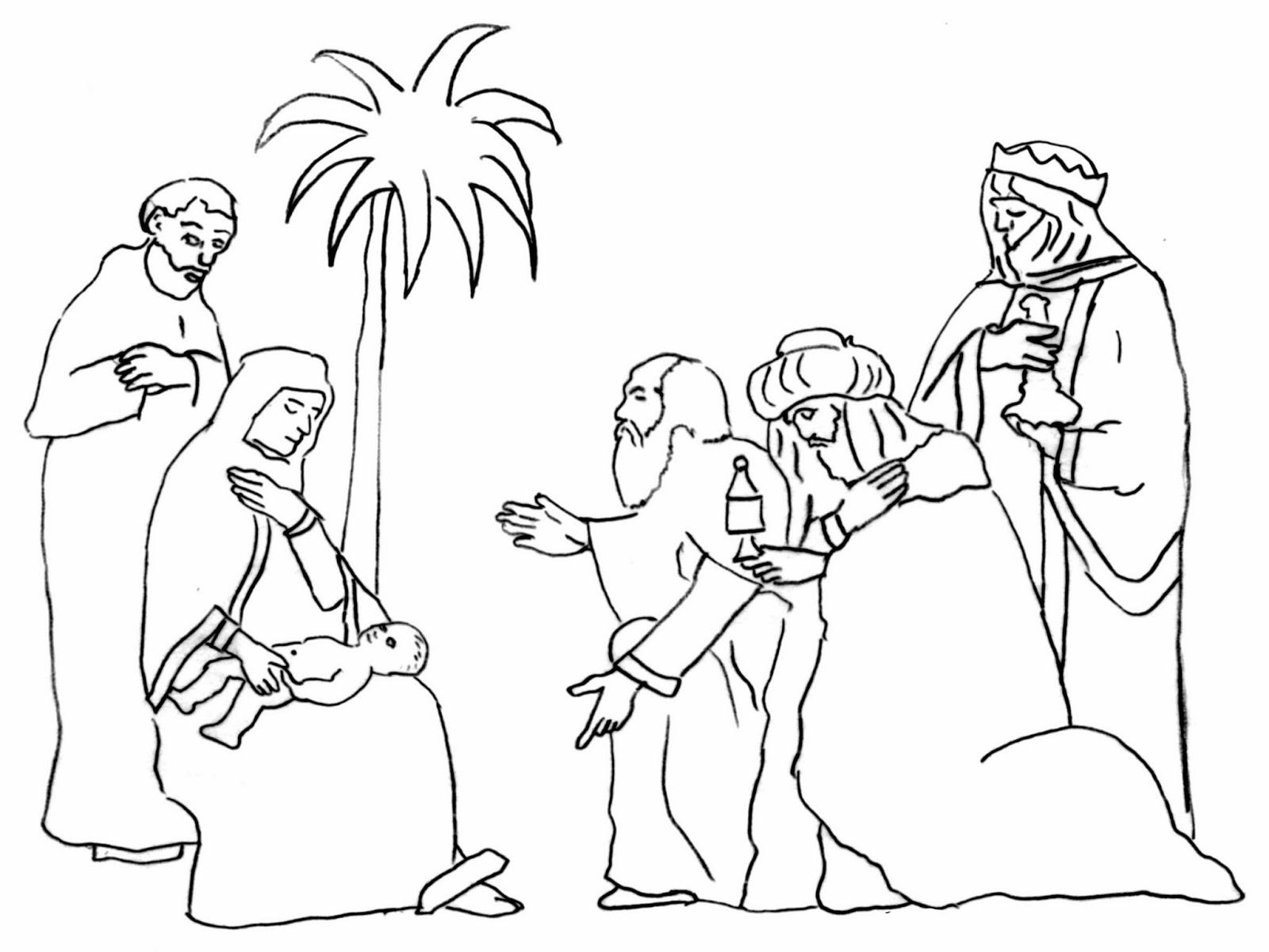 Dibujos Para Colorear De Los Tres Reyes Magos: Imagenes Cristianas Para Colorear: Dibujos Para Colorear