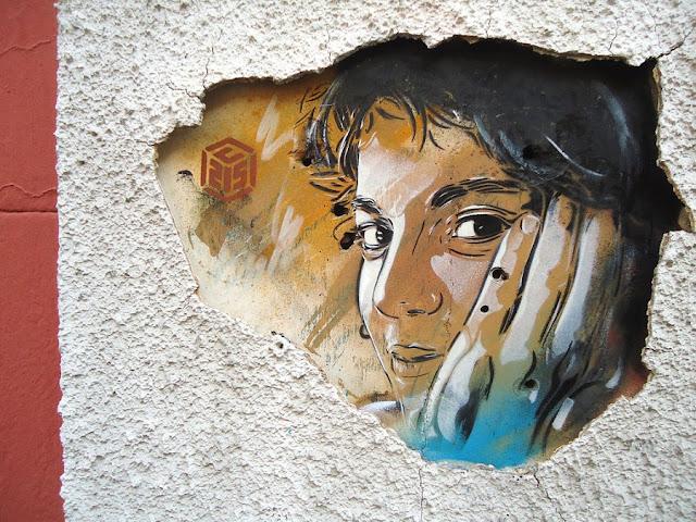 Уличное искусство Кристиана Гуеми (Christian Guémy aka C215) 19