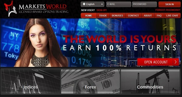 MarketsWorld Review 10 dollar no deposit binary option bonus