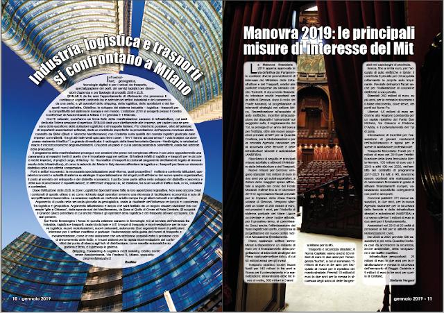 GENNAIO 2019 PAG. 10 - Industria, logistica e trasporti si confrontano a Milano