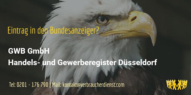 GWB GmbH  Handels- und Gewerberegister Düsseldorf
