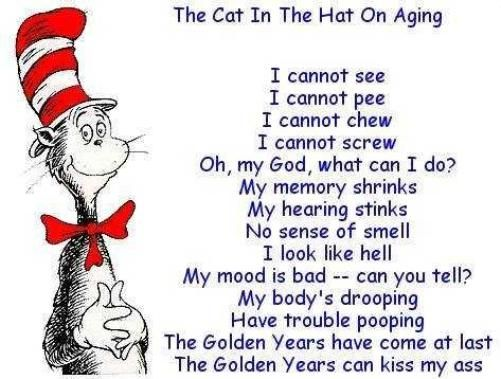 Zachs Naughty poems : Poem #5 - The Cat In The Hat On Aging