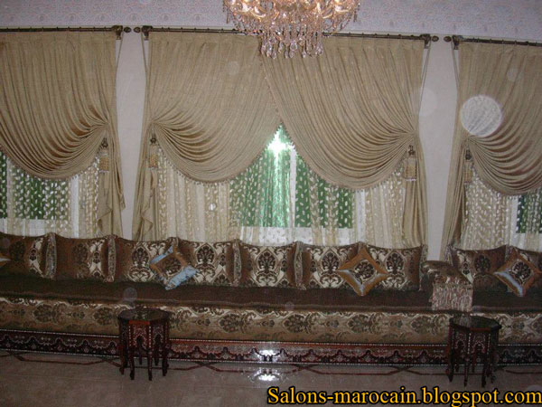 confection rideaux salon marocain. Black Bedroom Furniture Sets. Home Design Ideas