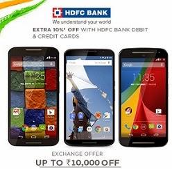 Upto Rs.10000 discount under Exchange Offer on Moto-G (2nd Gen) | Moto-X (2nd Gen) | Huawei Honor 6 | Google Nexus 6