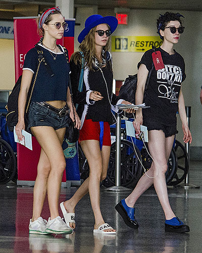 Sookie Waterhouse, Cara Delevingne and Annie Clark