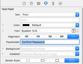 swift password field