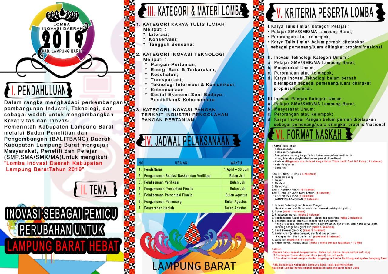 Balitbang Lampung Barat Gelar Lomba Karya Tulis Ilmiah Literasi Berhadiah Jutaan Rupiah Tim Gerakan Literasi Daerah Gld Lampung Barat