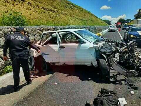 Fatal carreterazo en Perote