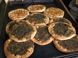 ZATAR FOR LUNCH OR DINNER To Be Truthful The Line Between Breakfast Lunch And Dinner Blurs With Idea Of Zatar Bread Sometimes Called Pizza