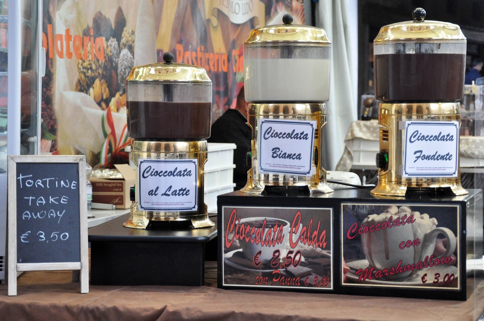 Hot chocolate, Chocolate Festival, Piazza dei Signori, Vicenza, Veneto, Italy