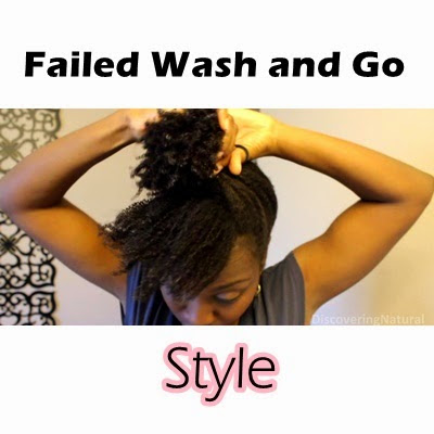 Quick Style for Failed Wash and Go 4B 4C Natural hair