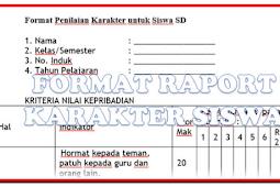 Download Format Raport Karakter Siswa