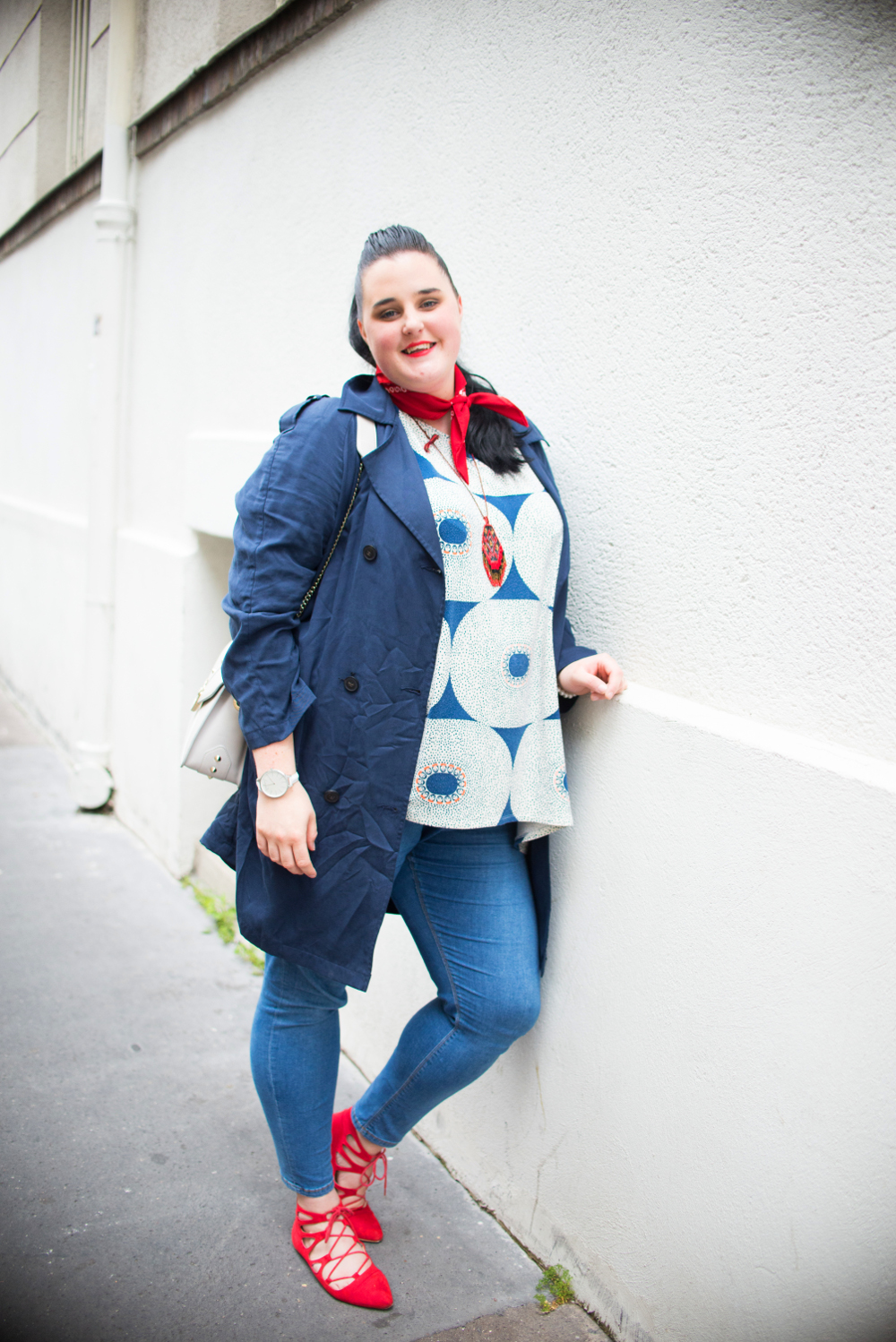 1ac9d4c1 Top oversize Kim / Electric Eye Beth Ditto / Jeans Asos Curve / Trench  Fluide BALSAMIK (offert) / Chaussures Asos (sold out) / Bandana Vintage /  Collier ...