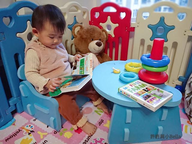 讓小B學習良好的閱讀坐姿~BB可愛防撞桌椅 {靚太購物全攻略}