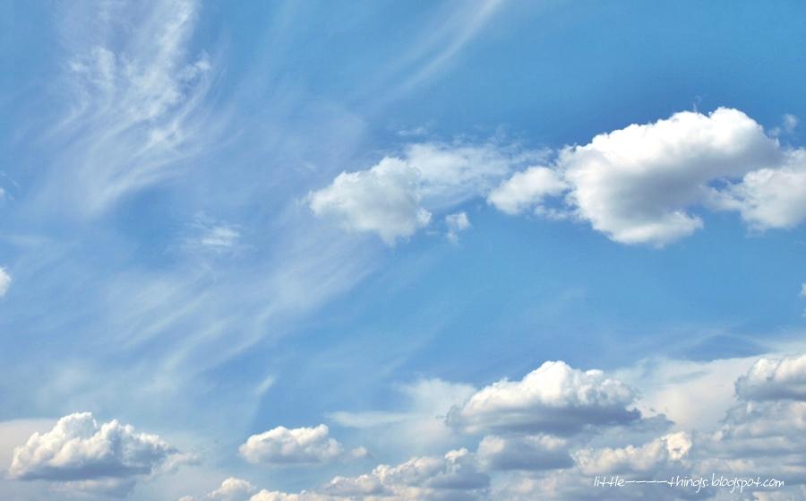 white clouds, cloudy sky, windy sky, blue sky
