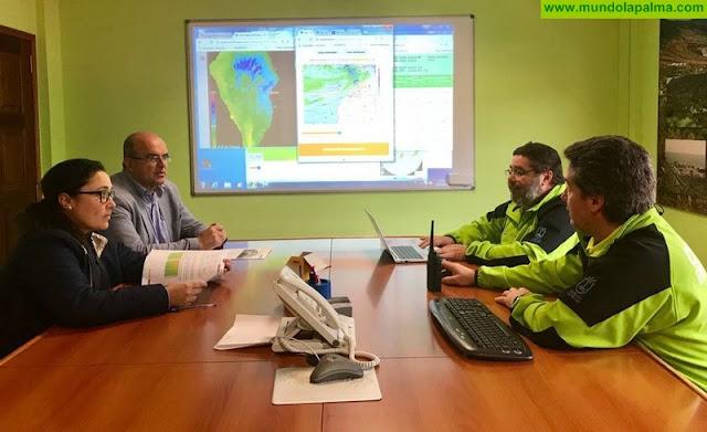 El presidente del Cabildo supervisa la coordinación insular de Emergencias ante las inclemencias meteorológicas en La Palma, Borrasca Emma