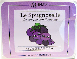Nhemis Cosmetics - Le Spugnoselle - Uva Fragola - etichetta frontale