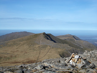 the glyders ridge snowdonia