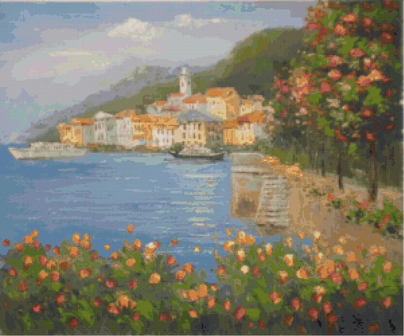Professione Donna Schema per il punto croce Paesaggio_76